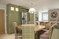 Bespoke island seating and dining