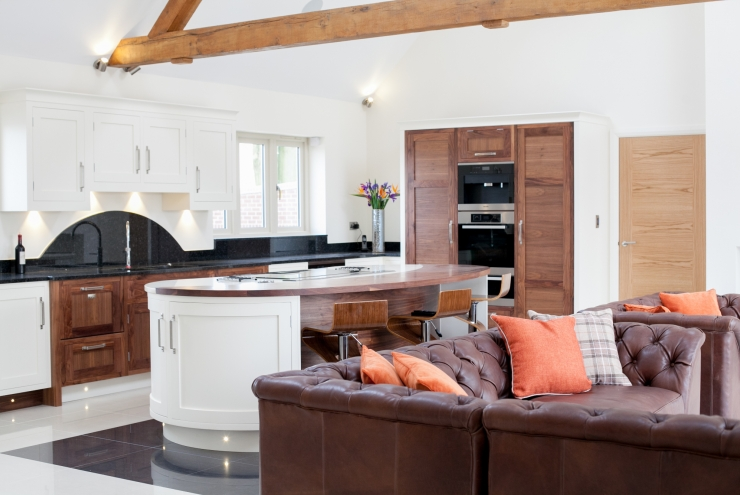 Stunning Walnut and Hand Painted Kitchens