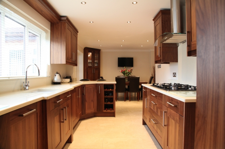 stunning kitchens walnut cabinets | Bespoke Kitchens | Holme Tree Leicestershire