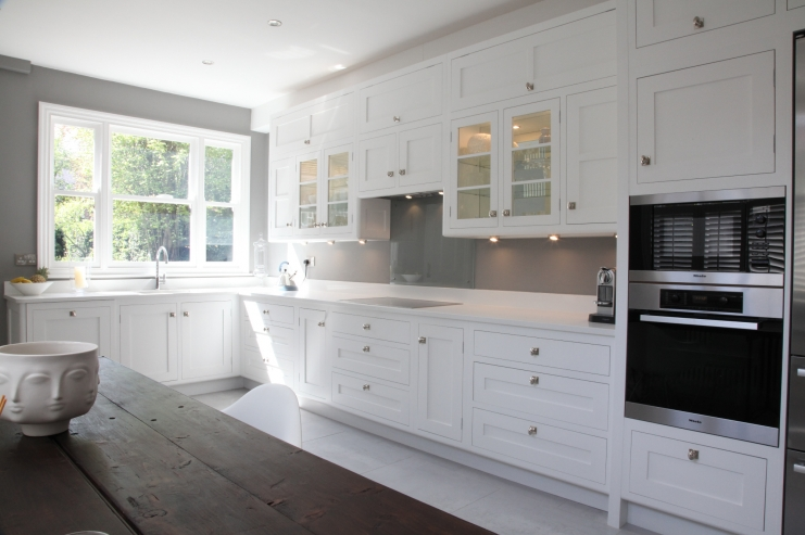 white victorian kitchen cabinets painted kitchen designs leicester bespoke 29165