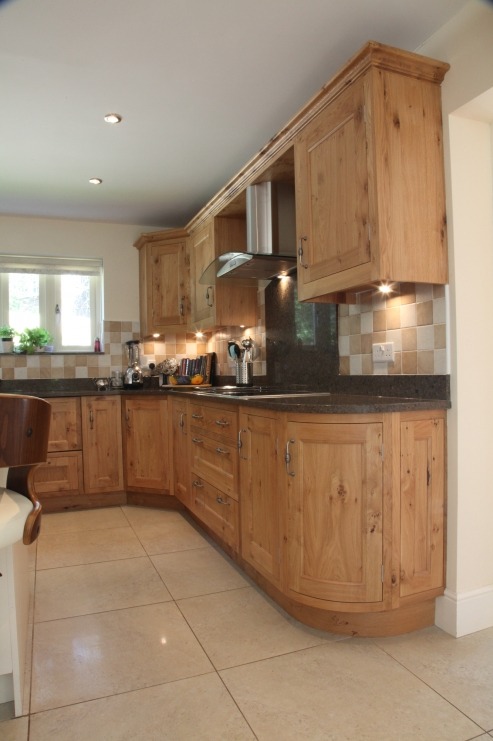 Finished With Beautiful Curved End Cabinetry