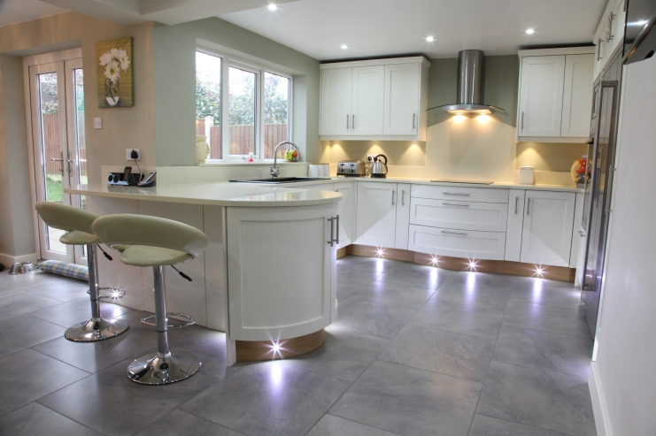 modern white shaker kitchen bespoke kitchens holme tree leicestershire 319