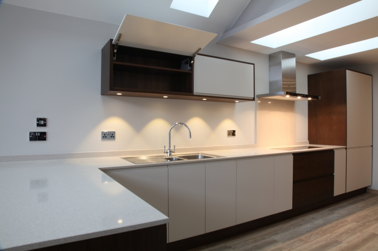 Modern Handleless Spray Painted Kitchen Bespoke Kitchens