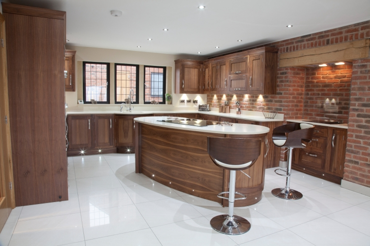 kitchen design walnut wood modern kitchen walnut bespoke kitchens 545