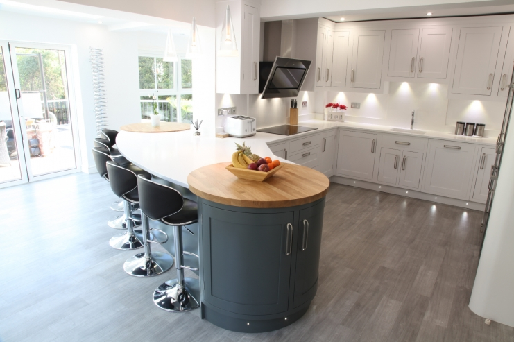 Two Colour Hand Painted Kitchens Bespoke Kitchens Custom Bespoke Kitchen Design Painting