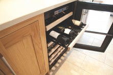 Integrated wine cooler