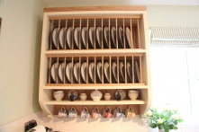 Custom built furniture - plate rack