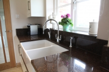 Incorporating large Belfast sink