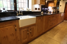 Traditional solid English oak kitchen and utility