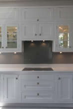 Our designs used modern integrated hob and extractor