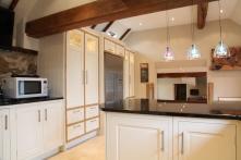 Kitchen makes the most of the original beam s