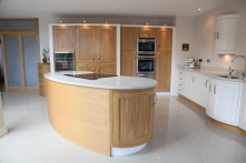 European oak and hand-painted open-plan kitchen