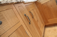 Oak doors have European oak surround with English oak centre panel