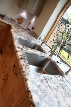 Juperana Perla granite with a soft radius profile