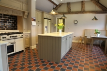 Classic hand-painted kitchen in Grade II listed building