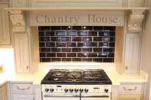 Range cooker surrounded by personalised mantle piece
