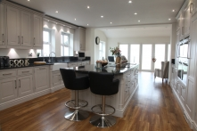 Bespoke painted kitchen