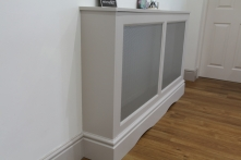 Bespoke matching radiator cabinetry