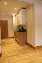 Same look and feel carried through to utility area