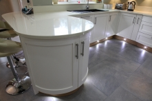 Signature curved cabinetry