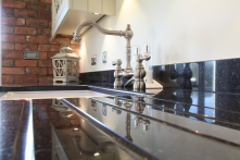 Belfast sink finished with beautifully styled taps
