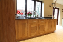 Simply stunning European oak cabinetry