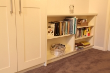All the spaces used with small inset bookcase