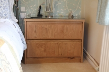 Matching bedside drawers in English Oak