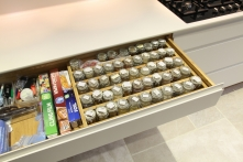 Neat kitchen storage for herbs and spices