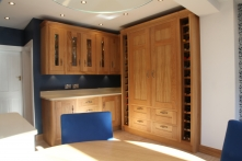 Stunning storage with wine rack