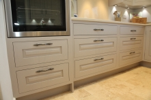 Sleek pull out drawer storage