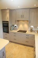 Concealed extractor and ceramic hob