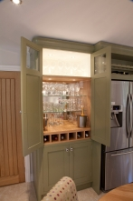 Hand-crafted engraved bar cupboard