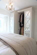Shaded White Handcrafted Wardrobes