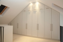 Spray finished wardrobes