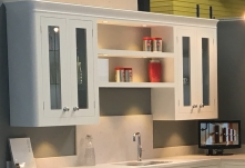 Lit cabinets and shelving