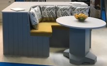 Island seating and table