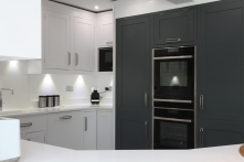 Tall cabinetry with Neff ovens
