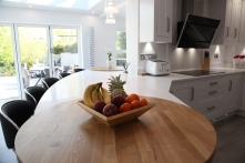 Solid staved oak circular surfaces
