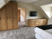 Sloping Oak Wardrobes