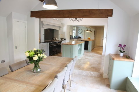 Impressive bespoke painted kitchen