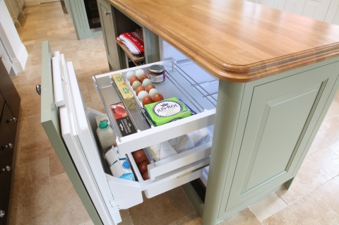 Island with Liebherr Drawer Fridge