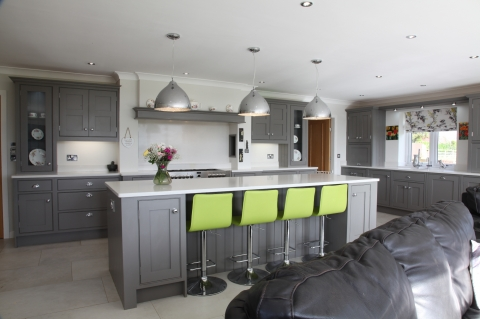 Large Open Plan Kitchen with Island Centrepiece