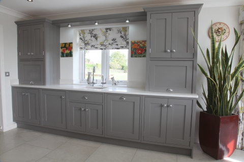 Hand Painted Kitchen in Farrow & Ball Moles Breath